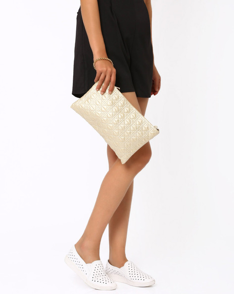 Lorah Oversized Clutch By Carlton London ( Gold )