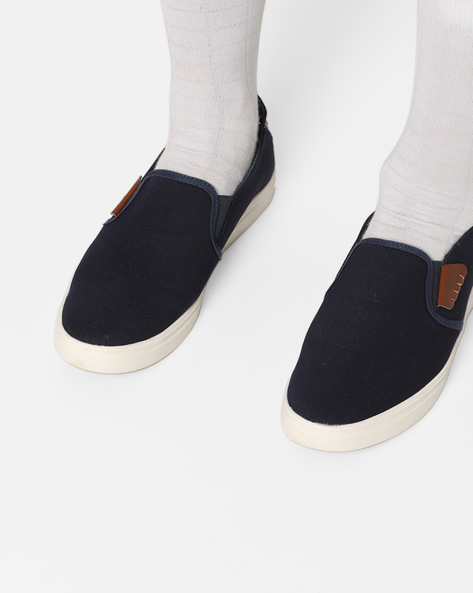 Slip-On Sneakers With Contrast Panels By Nuboy ( Navy )