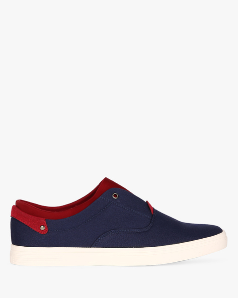 Slip-On Sneakers With Extended Tongue By Nuboy ( Navy )