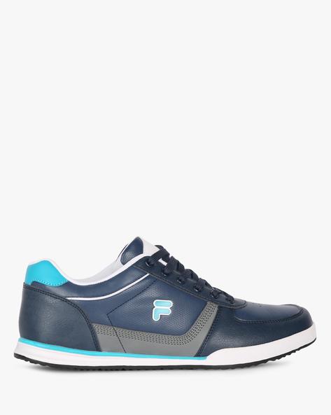 Bonnie Panelled Lace-Up Shoes By FILA ( Blue )
