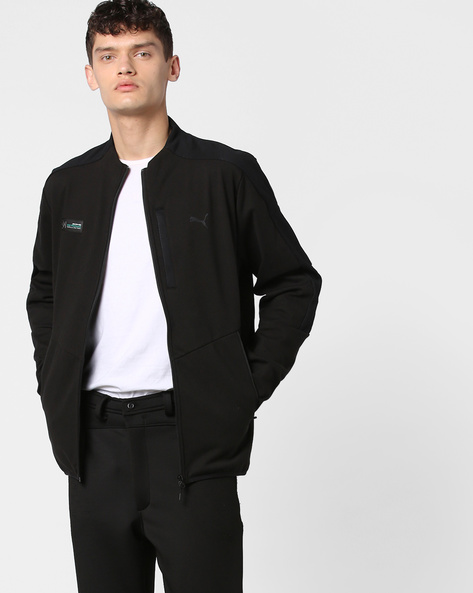 Front-Zip Track Jacket By Puma ( Black )