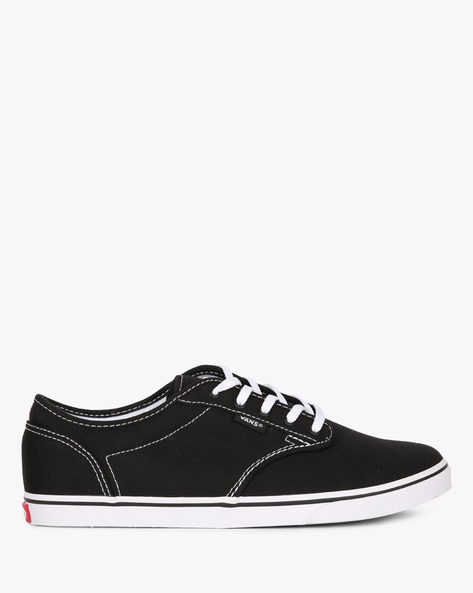 Atwood Canvas Lace-Up Casual Shoes By Vans ( Black )