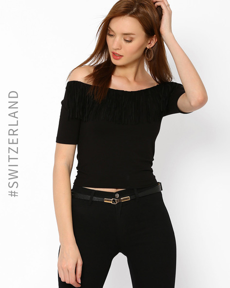 Classic Belt With Hook Buckle By TALLY WEiJL ( Black )