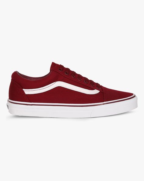 Old Skool Lace-Up Shoes By Vans ( Maroon )