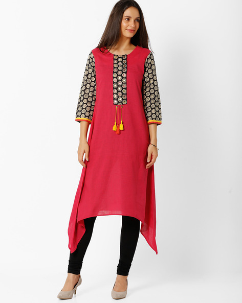 A-Line Kurta With Dipped Hem By BE INDI ( Assorted )