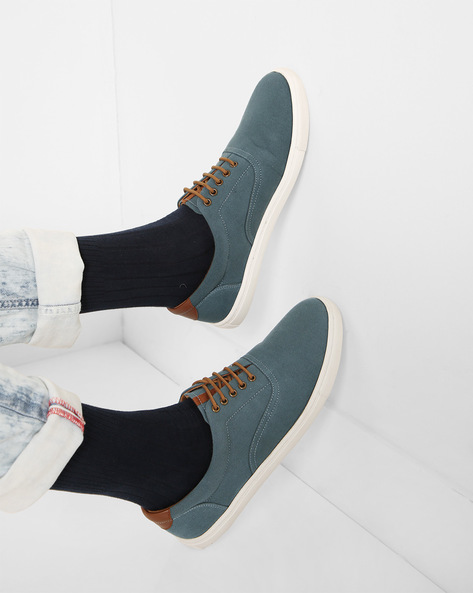 Casual Lace-Up Shoes By AJIO ( Blue )
