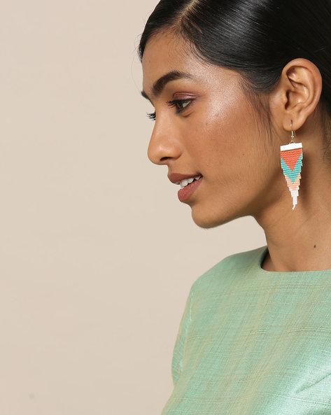 Beaded Dangler Earrings By Indie Picks ( Multicolour ) - 460167635001