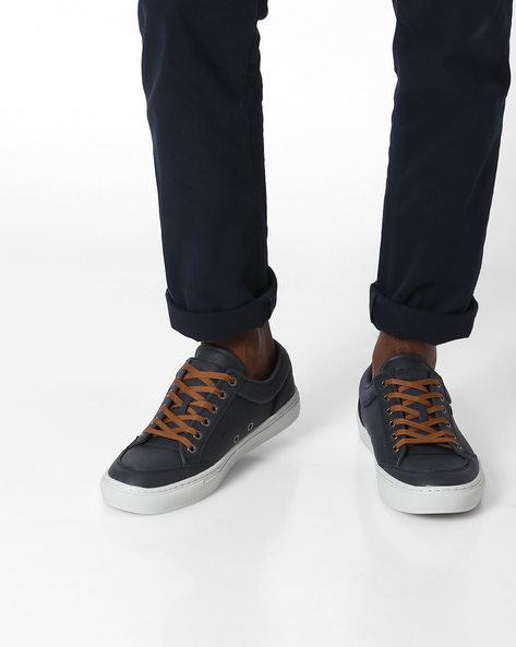 Lace-Up Casual Shoes By British Knights ( Navy )