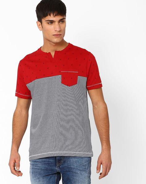 Printed Cut & Sew T-shirt By TEAM SPIRIT ( Red )