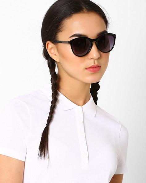 Polarised Cat-Eye Sunglasses By Macv ( Black ) - 460035842002
