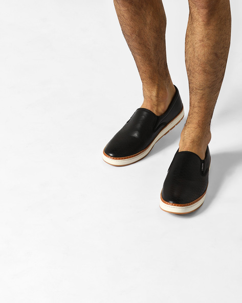 Slip-On Sneakers With Broguing By ESCARO ( Black )