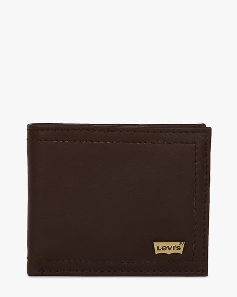 Faux Leather Bi-Fold Wallet By LEVIS ( Brown ) - 460028265001