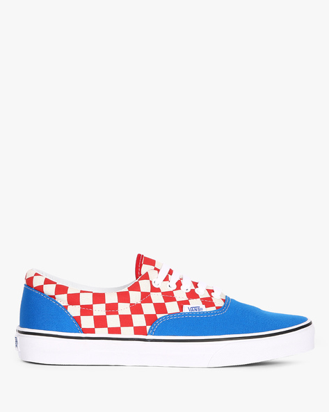 Era Canvas Lace-Up Casual Shoes By Vans ( Blue )