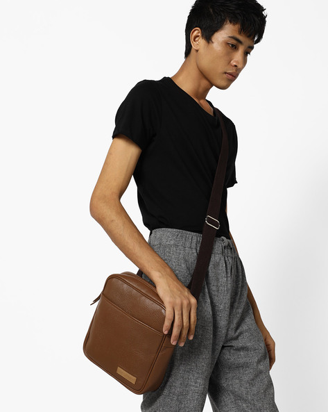 Genuine Leather Crossbody Bag By JUSTANNED ( Lgttan ) - 460106909001