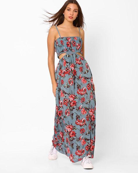 Tie & Dye Print Maxi Dress By Rena Love ( Darkgrey )