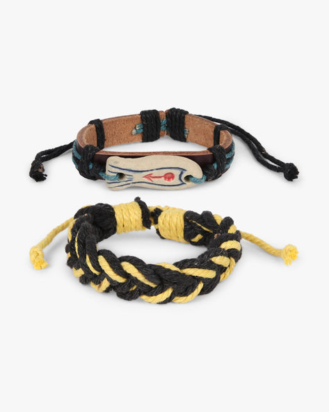 Set Of 2 Bracelets By ALPHA MAN ( Yellow ) - 460134328001