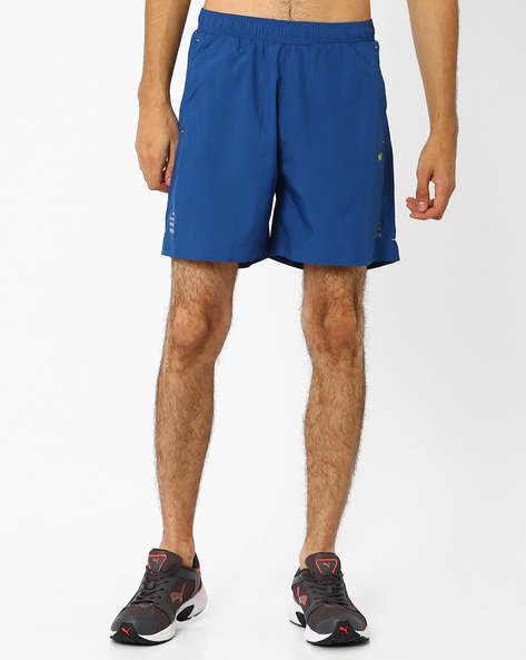 Relaxed Fit Hypacool Active Trail Shorts By Wildcraft ( Dkblue )