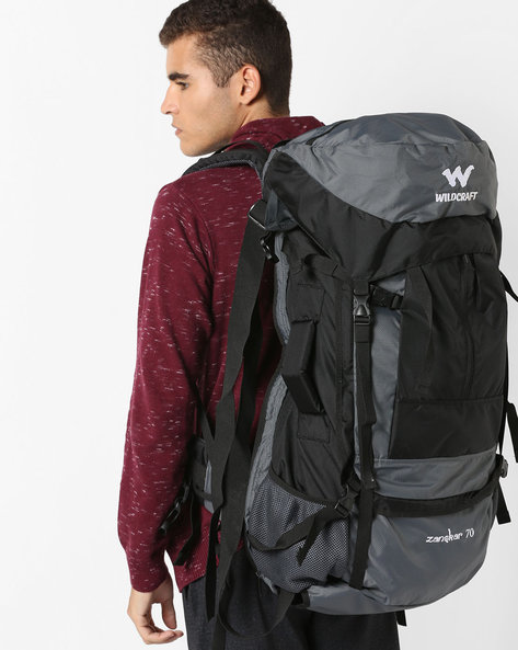 Colourblock Travel Backpack By Wildcraft ( Black )