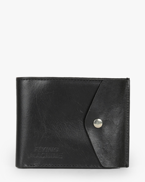 Genuine Leather Bi-Fold Wallet By FLYING MACHINE ( Black )