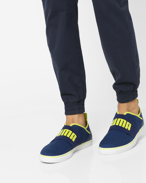 Printed Canvas Slip-Ons By Puma ( Blue )