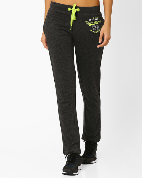 Track Pants With Drawstring Fastening By Ajile By Pantaloons ( Lgtgrey )