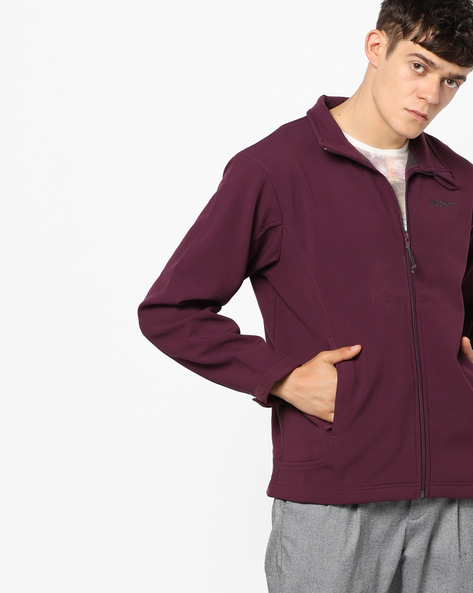 Front-Zip Jacket With Insert Pockets By Wildcraft ( Purple )