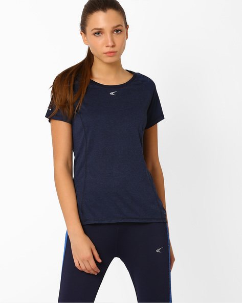 QuickDry T-shirt With Short Sleeves By PERFORMAX ( Navy )