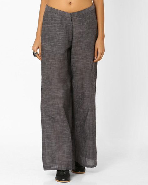 South Cotton Palazzo Pants By AJIO ( Charcoal )