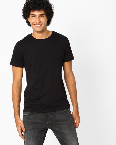 Printed Slim Fit T-shirt By Blue Saint ( Multi )