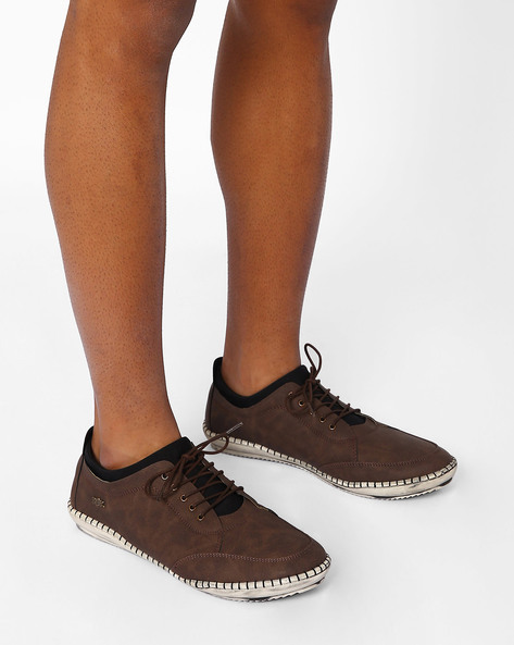 Casual Lace-Up Shoes By BUCKAROO ( Brown )
