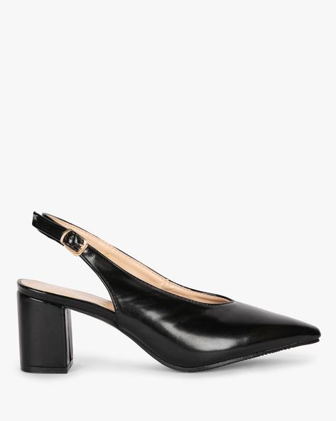 Slingback Heeled Shoes By MFT Couture ( Black )