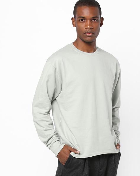 Sweatshirt With Drop Shoulders By Blue Saint ( Lightgrey )