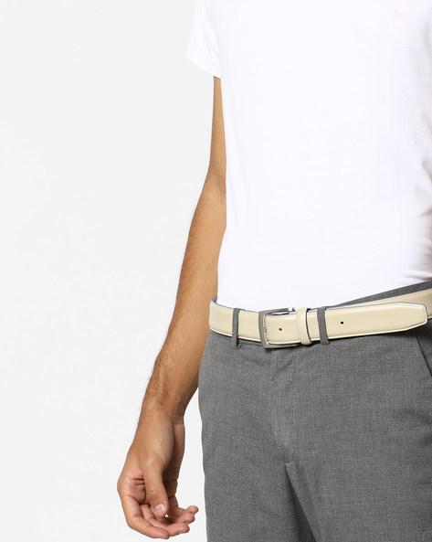 Genuine Spanish Leather Belt By AJIO ( Beige )