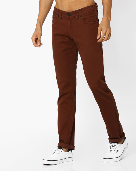 Skinny Fit Twill Chino Trousers By BASICS ( Dkmulti )