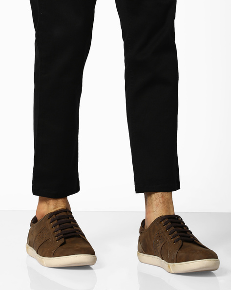 Lace-Up Shoes With Perforations By BCK By Buckaroo ( Brown )