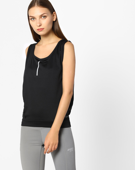 GoDRY Top With Deep-Cut Armholes By 2Go ( Black )