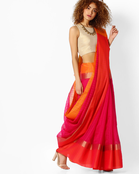 Handloom Art Silk Saree By SHRIKALA ( Pink )