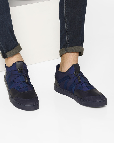 Mid-Top Toggle Sneakers By AJIO ( Navy )