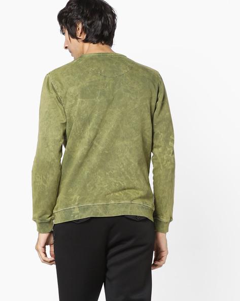 Graphic Print Crew-Neck Sweatshirt By Killer ( Green )