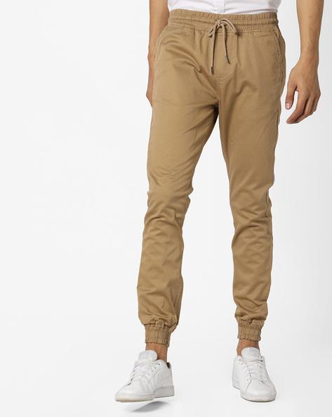 Slim Fit Jogger Pants By Locomotive ( Beige ) - 460151641001