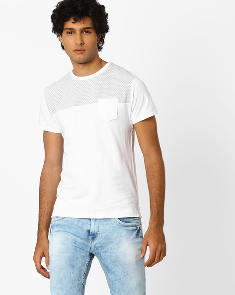 Regular Fit Crew-Neck T-Shirt By MUFTI ( White )