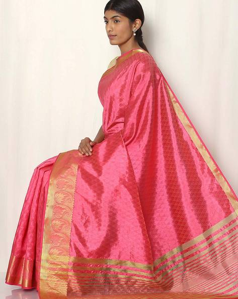 Embossed Design Art Silk Saree By Rudrakaashe-MSU ( Peach )