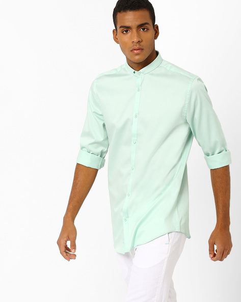 Slim Fit Shirt With Slim Collar By Jack & Jones ( Green )