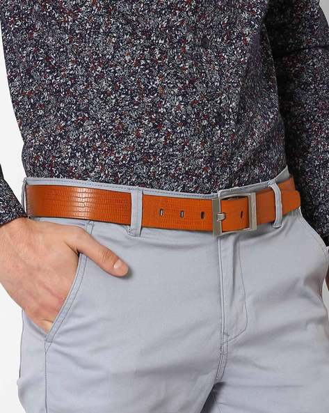 Leather Belt With Pin Buckle By Puma ( Brown )