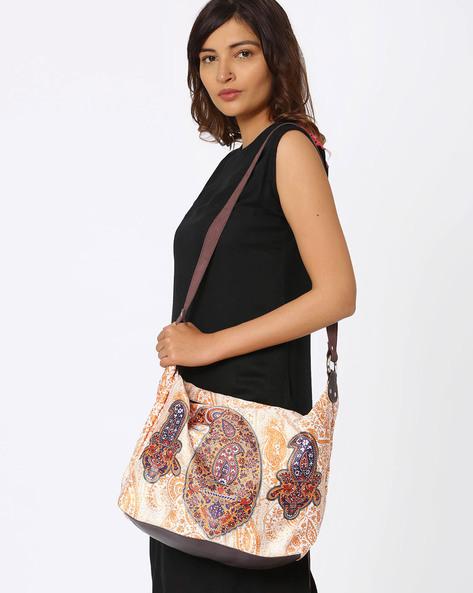 Digital Print Polysuede Shoulder Bag By Noorani Biswas ( Multi )