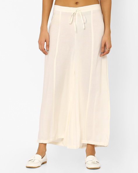 Cotton Palazzo Pants By AYAANY ( Cream )