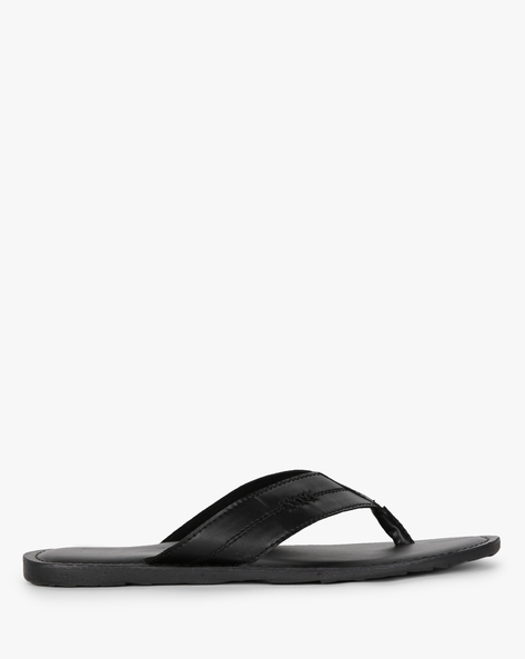 Thong-Style Flip-Flops With Stitch Detail By Estd.1977 ( Black )