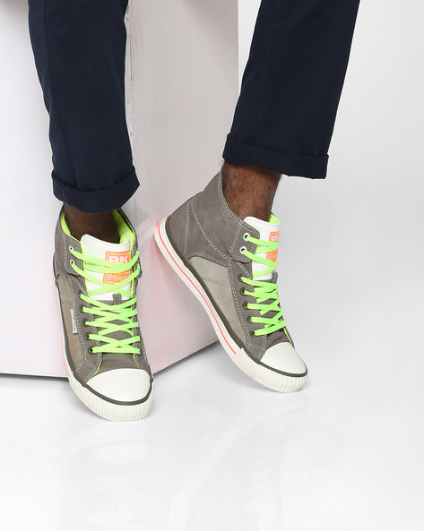 Roco Panelled Lace-Up Casual Shoes By British Knights ( Khaki )