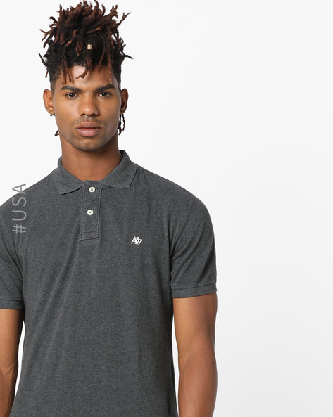 Polo T-shirt With Embroidered Branding By Aeropostale ( Grey )