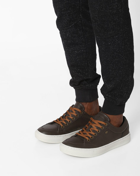 Lace-Up Casual Shoes By British Knights ( Taupe )